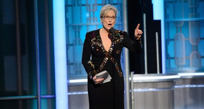pMeryl Streep quickly turned the spotlight away from herself and onto President-elect Donald Trump while accepting a lifetime achievement award at the Golden Globes./p  pWithout mentioning Trump...