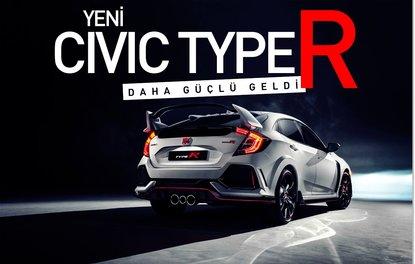 Yeni Civic Type R daha güçlü geldi