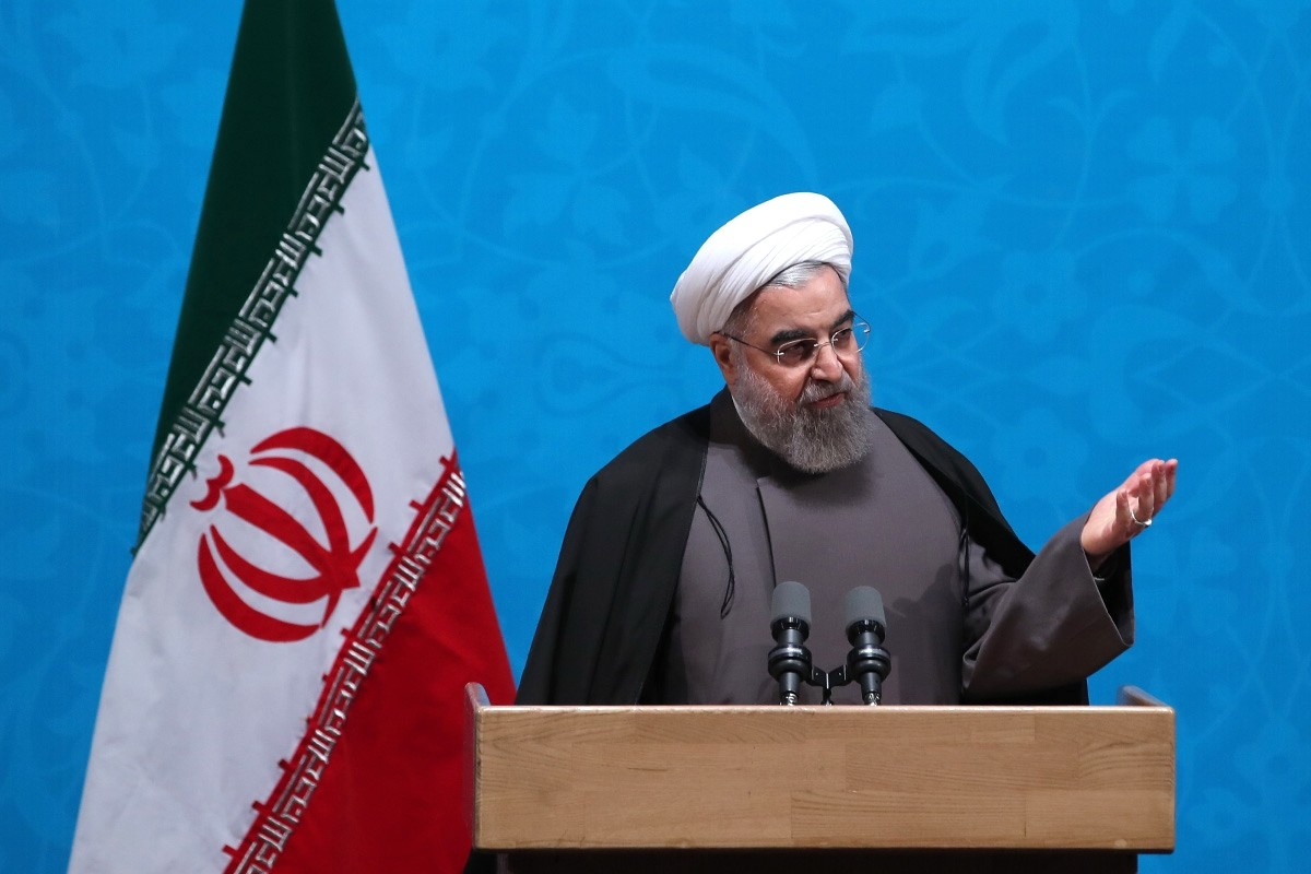 A handout picture provided by the office of Iranian President Hassan Rouhani on December 6, 2016 shows him delivering a speech. (AFP Photo)