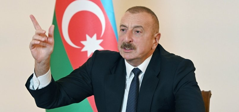 AZERBAIJANS ALIYEV: NO ROOM FOR NEGOTIATIONS WITH ARMENIA DUE TO AGGRESSIVE RHETORIC AND ATTACKS