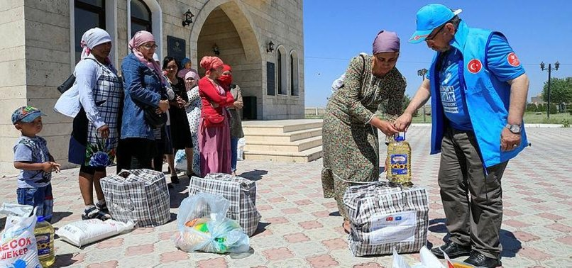 TURKISH AGENCY DELIVERS RAMADAN AID TO KAZAKH FAMILIES