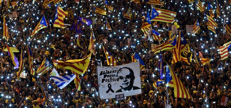 THOUSANDS RALLY IN MADRID TO SUPPORT JAILED CATALAN SEPARATISTS