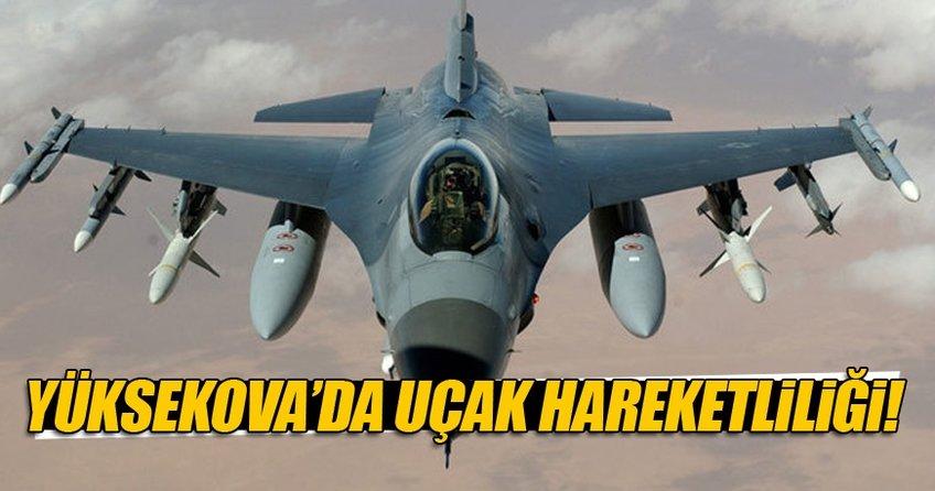 Yüksekova'da uçak hareketliliği