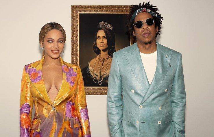2019 Brit Ödülleri sahiplerini bulurken, Beyonce ve Jay Z'nin Meghan Markle'ı kraliçe olarak gösteren tablo önündeki teşekkürleri geceye damga vurdu.