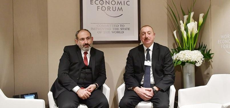 AZERBAIJAN'S ALIYEV, ARMENIA'S PASHINIAN DISCUSS KARABAKH ISSUE AT DAVOS
