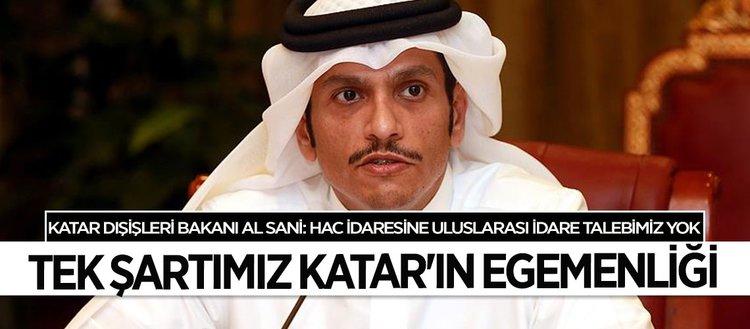 Al- Sani: Hac idaresinin uluslararası hale getirilmesini talep etmedik