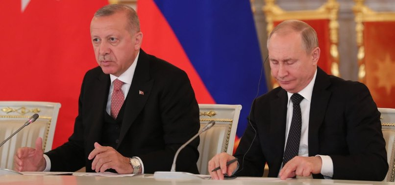 TURKISH AND RUSSIAN LEADERS TALK PRIORITY ISSUES IN MOSCOW