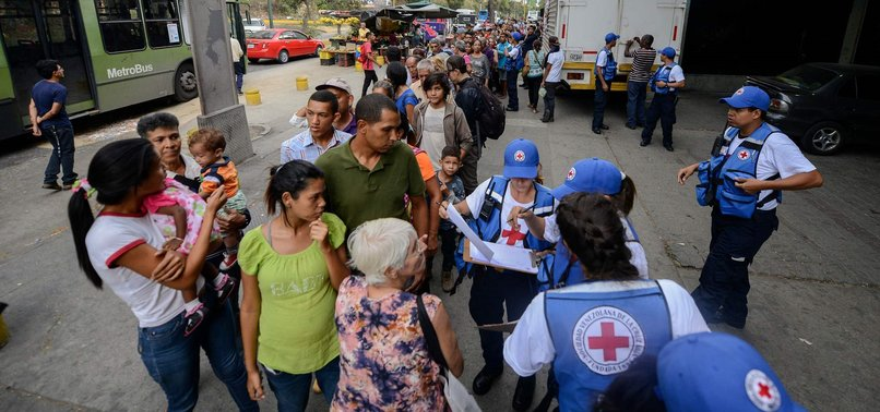 RED CROSS DISTRIBUTES AID FOR FIRST TIME IN VENEZUELA