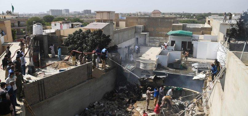 PAKISTAN JET WITH 98 ABOARD CRASHES NEAR KARACHI AIRPORT