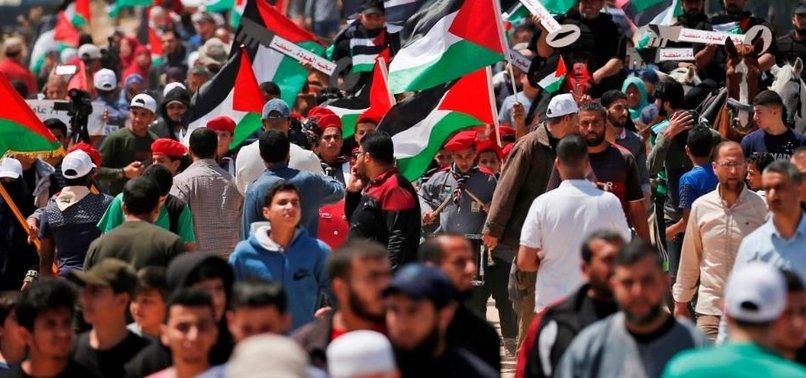 GAZANS CALL FOR FREEDOM FOR HUNGER STRIKERS IN ISRAELI PRISONS