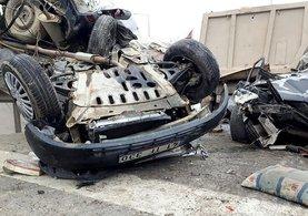Gebze'de zincirleme trafik kazası: 1 ölü, 14 yaralı