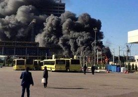 Bursa'da büyük şantiye yangını!
