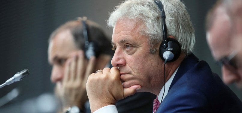UK PARLIAMENT SPEAKER BERCOW ANNOUNCES INTENTION TO STEP DOWN