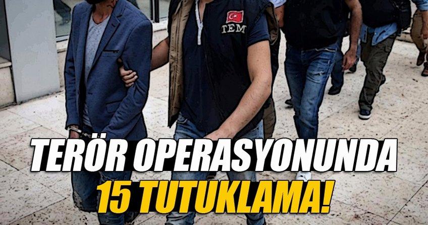 Bursa'daki terör operasyonunda 15 tutuklama