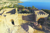 Hereke Castle in Kocaeli, in northwest Anatolia near Istanbul, built in the Eastern Roman Empire and then abandoned, is being restored by Körfez Municipality.  Körfez Municipality Mayor İsmail...