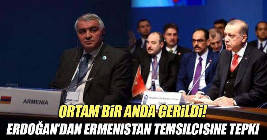 Cumhurbaşkanı Erdoğan'dan Ermenistan Temsilcisi'ne tepki