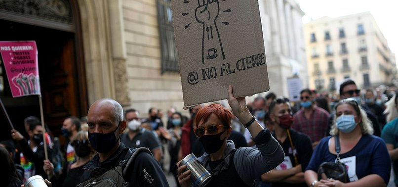 SPAINS VIRUS CASES UP BY ALMOST 20,000 AS UNREST GROWS
