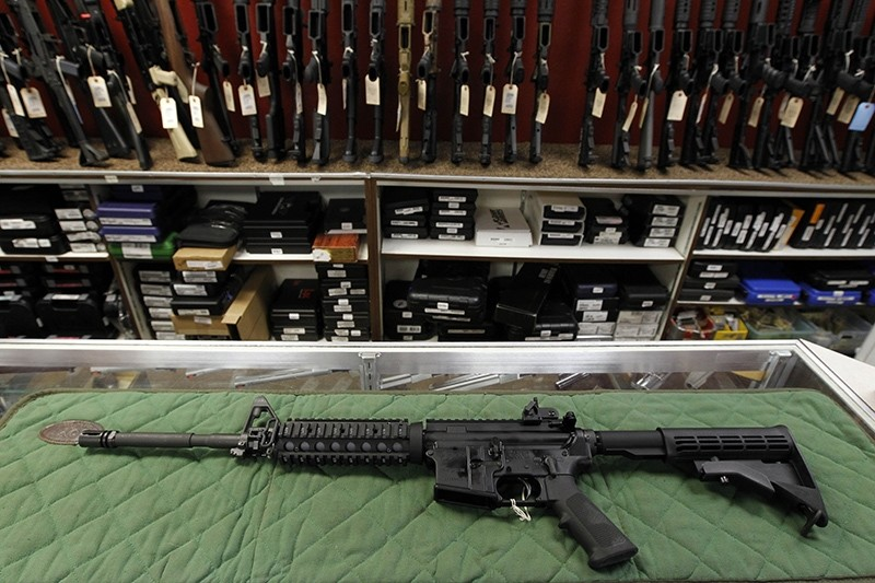 In this July 26, 2012, file photo, an ,AR-15 style, rifle is displayed at the Firing-Line indoor range and gun shop in Aurora, Colo (AP Photo)