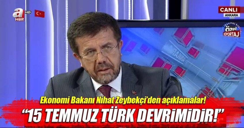 Ekonomi Bakanı Nihat Zeybekçi AHaber'de - CANLI