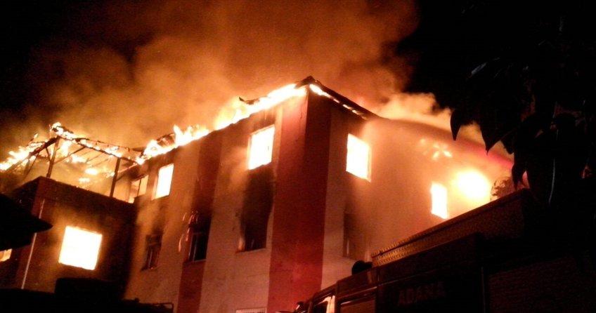 Aladağ'daki kız öğrenci yurdunda yangın çıktı!