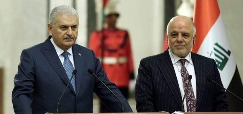 PM YILDIRIM, IRAQI PM ABADI HIGHLIGHT COOPERATION AGAINST PKK, DAESH IN PHONE CALL