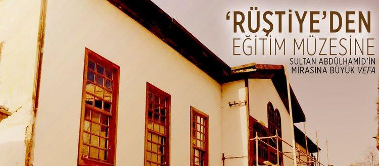 Sultan Abdülhamid'in mirasına büyük vefa: 'Rüştiye'den eğitim müzesine