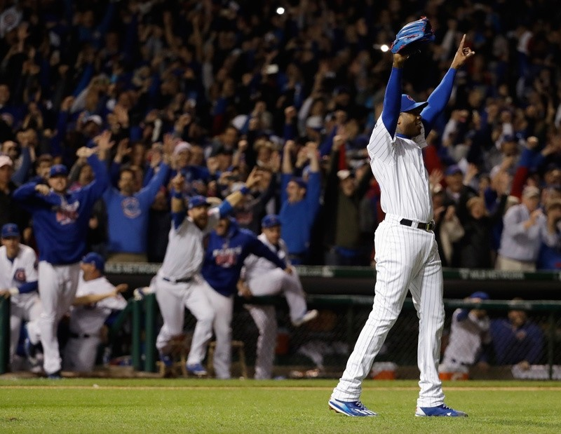 The Cubs won 5-0 to win the series and advance to the World Series against the Cleveland Indians. (AP Photo)