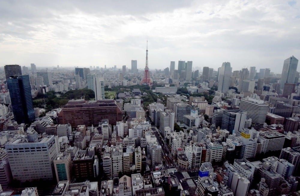 A general view of the Tokyo city centre. Japanu2019s economy stalled in the April-June quarter, data showed, missing market forecasts.