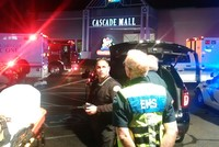 A gunman remained on the loose after opening fire in a crowded mall north of Seattle, killing five people before fleeing Friday night, authorities said.  Authorities say a gunman who fatally shot...