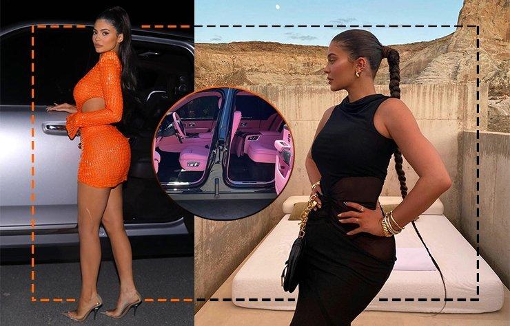 Kylie Jenner pembe Rolls Royce'una kavuştu
