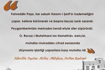 Fahreddin Paşa'nın Medine Müdafaası kitabından alıntılar