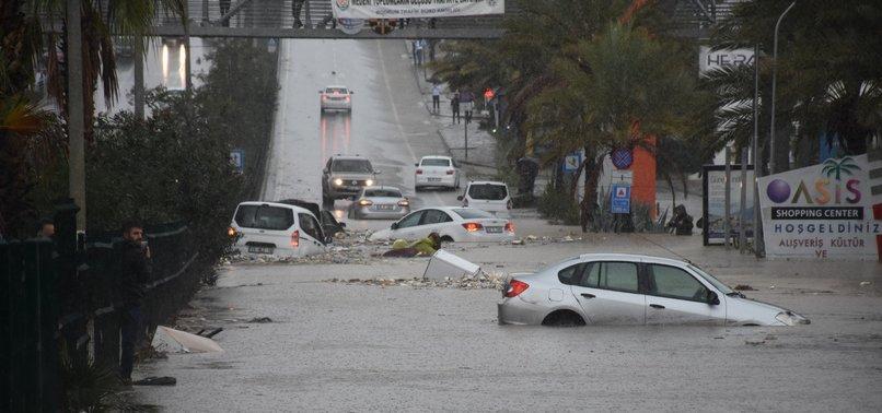 BODRUM UNDERWATER AS FLOODS, HAIL SWEEP THE TURKISH RESORT TOWN