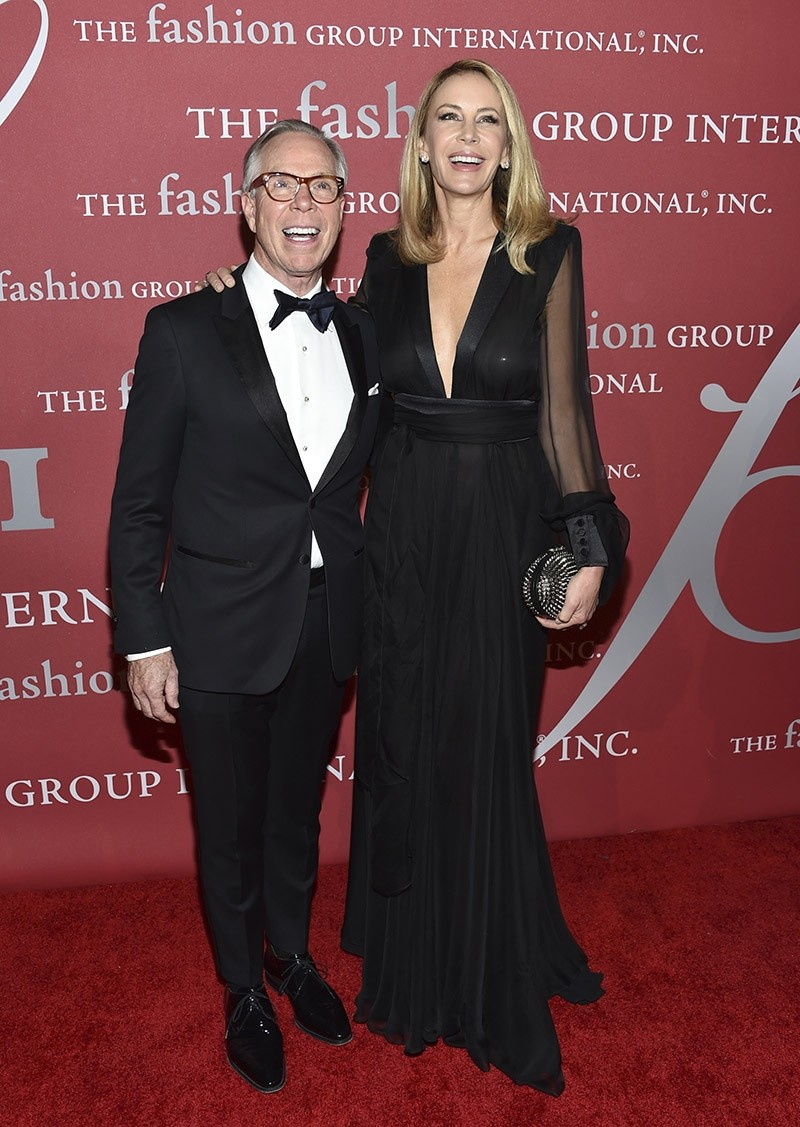 Tommy Hilfiger and wife Dee Hilfiger attend The Fashion Group International's Night of Stars Gala in New York, Oct. 2016. (AP Photo)