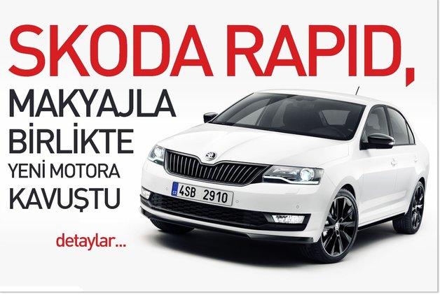 Skoda Rapid, makyajla birlikte yeni motora kavuştu