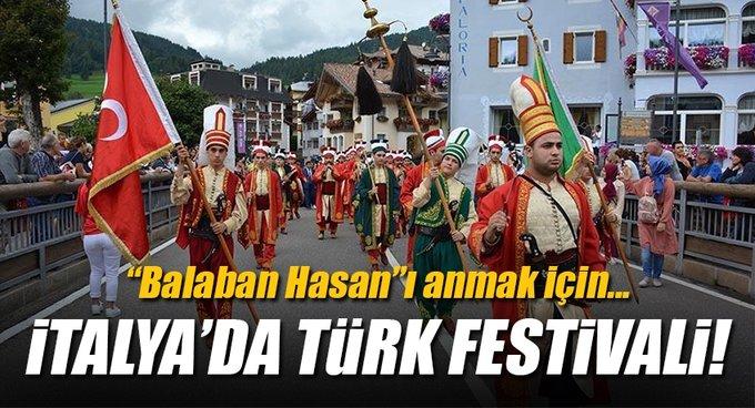 İtalyada Moena kasabasında Türk Festivali