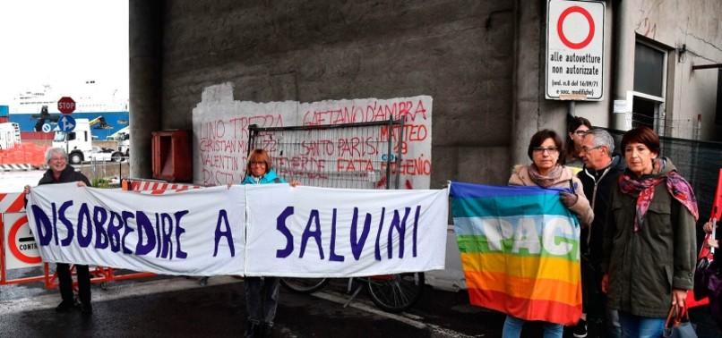 ITALIAN DOCK WORKERS REFUSE TO LOAD CARGO ONTO SAUDI ARABIAN SHIP HEADED TO YEMEN
