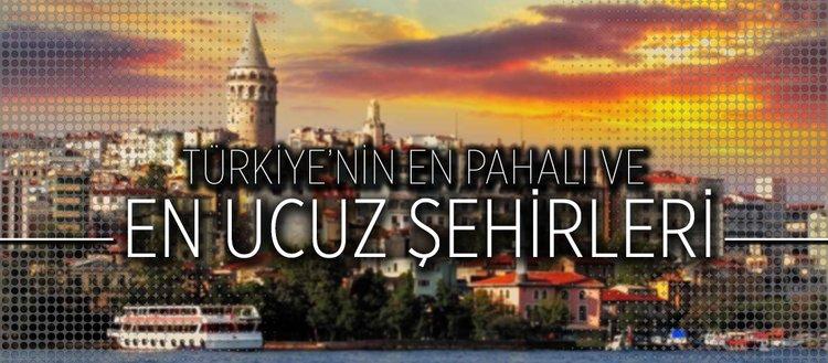 Türkiye'nin en pahalı ve en ucuz şehirleri
