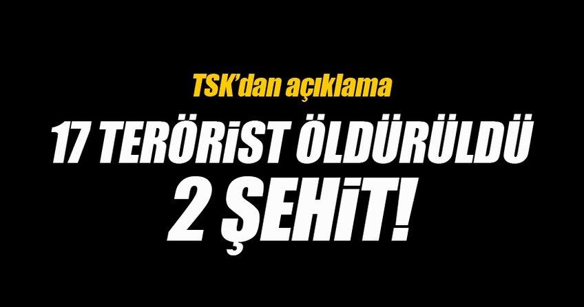 TSK: 17 DEAŞ teröristi öldürüldü