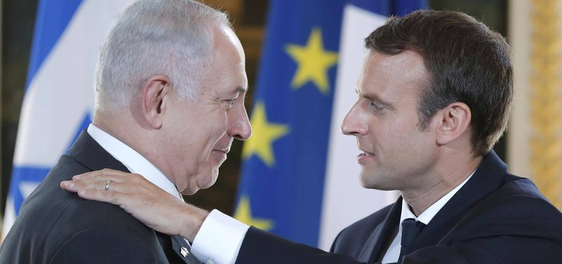 FRANCE URGES NETANYAHU NOT TO ANNEX PARTS OF WEST BANK
