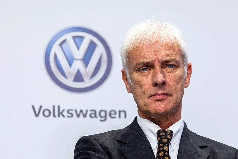 Volkswagen CEO Matthias Mueller announces new savings plan at a news conference in Germany. (AP Photo)