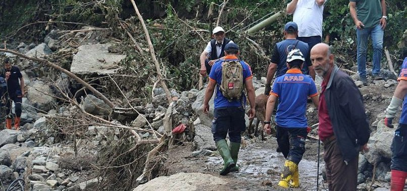 RECOVERY, SEARCH FOR MISSING UNDERWAY AFTER TRABZON FLOODS