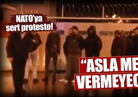 AK Partili gençlerden NATO'ya gece yarısı protestosu