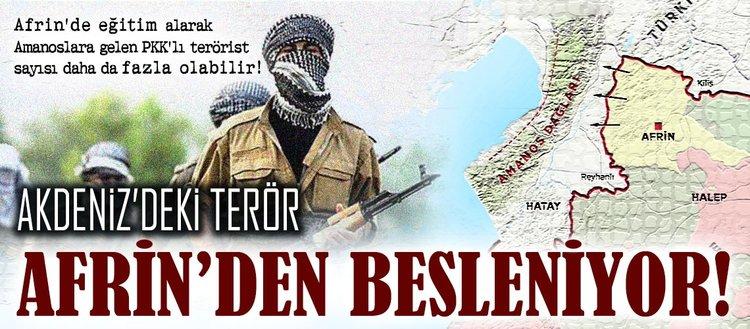 Akdeniz'deki terör Afrin'den besleniyor!