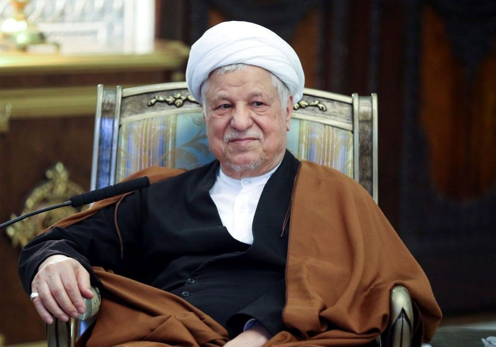 The former Iranian president Akbar Hashemi Rafsanjani, a pivotal figure in the foundation of the Islamic republic in 1979.