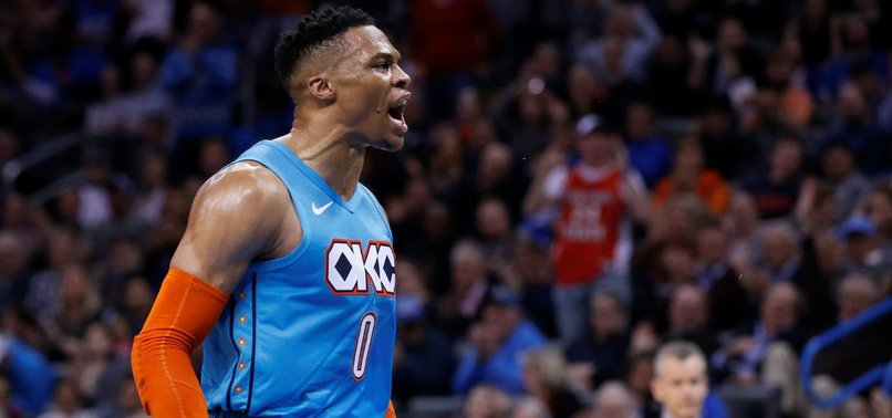 best sneakers 7a3c9 3f31f Westbrooks 7th straight triple-double leads OKC past Magic ...