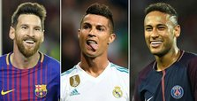 Ronaldo, Messi, Neymar lead FIFA best player shortlist