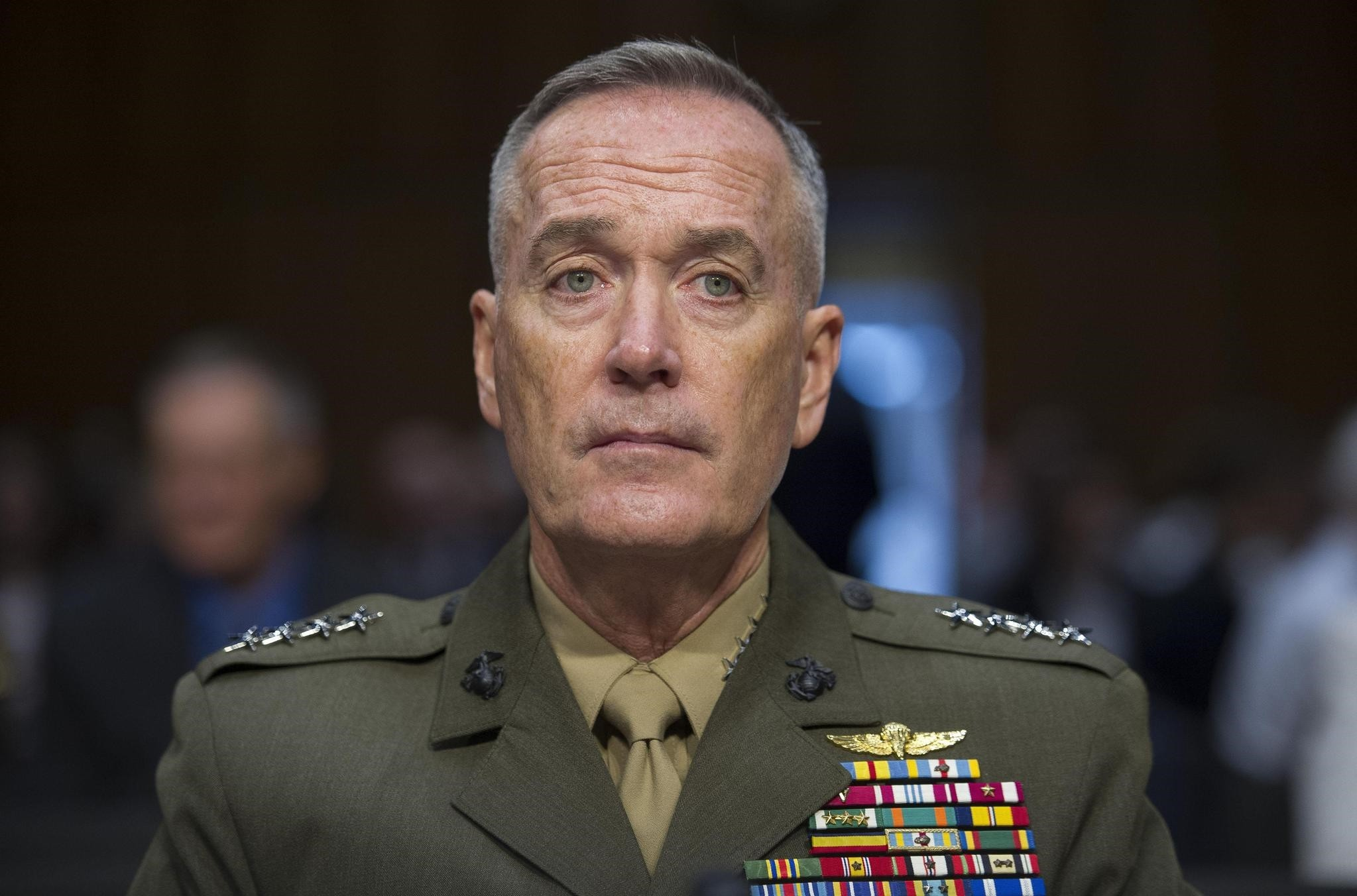 Gen. Joseph Dunford, Jr., testifies during his Senate Armed Services Committee confirmation hearing to become the Chairman of the Joint Chiefs of Staff, on Capitol Hill in Washington. (AP Photo)