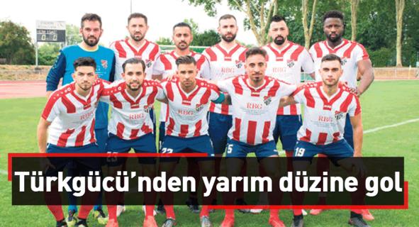 Türkgücü'nden yarım düzine gol