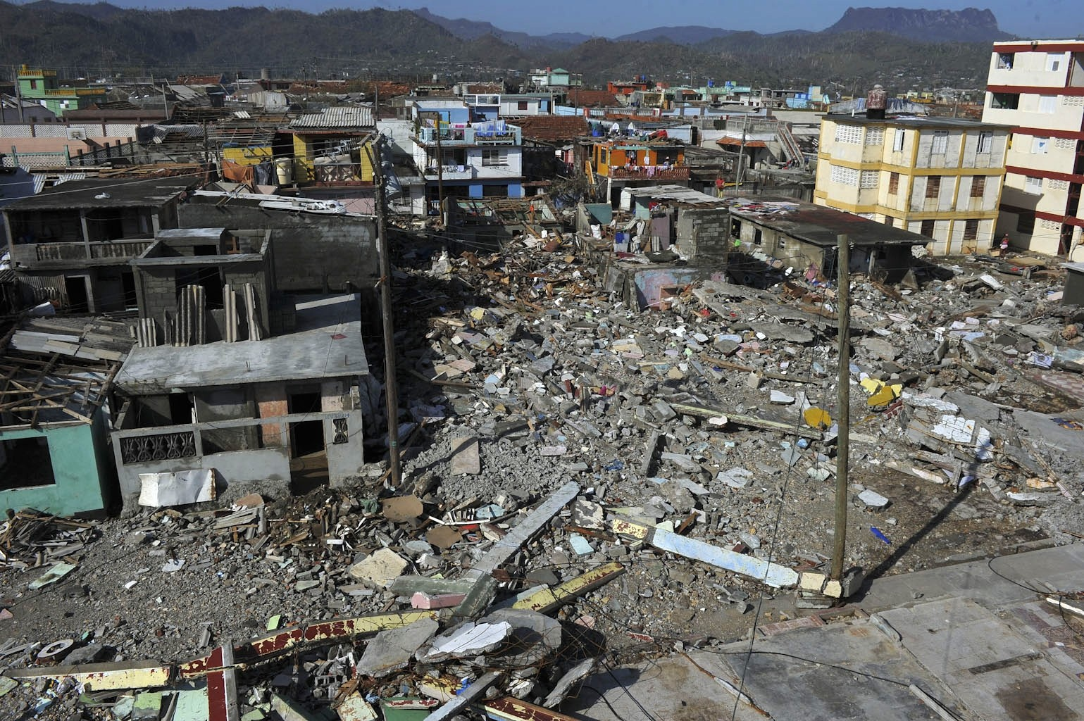 View of Baracoa, Guantanamo province, east of Cuba after hurricane Matthew passed through the place on October 7, 2016.  (AFP Photo)