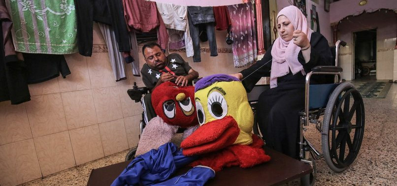 DISABLED GAZA COUPLE MAKE DOLLS TO GIVE THEIR CHILDREN DECENT LIFE
